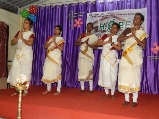 HOPE Hostel girls perform welcome dance