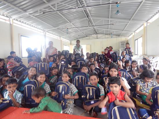 Children with school Bags